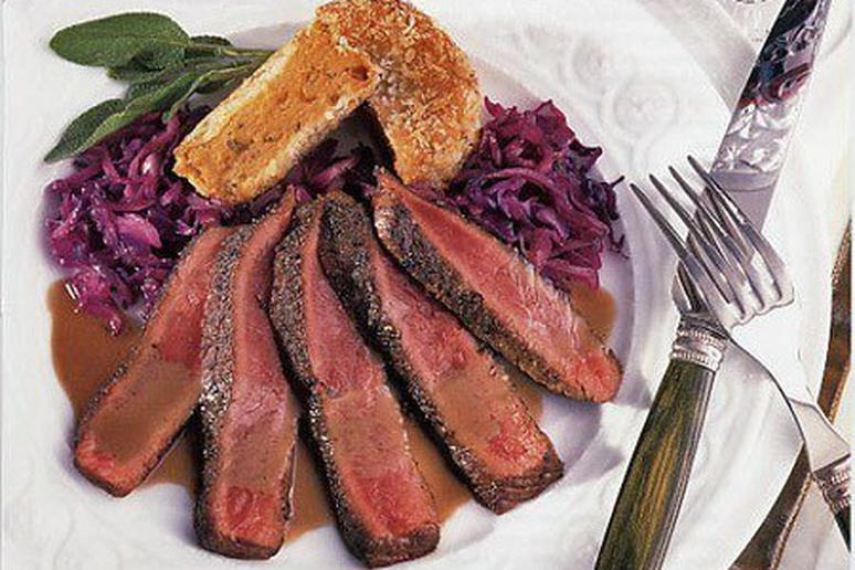 Mustard-Glazed Ostrich Fillet with Berry Marmalade Sauce