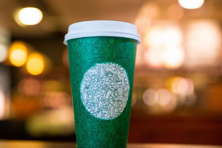 They're seeing red… just not in Starbucks holiday cups.