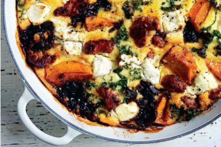 Pumpkin, Chorizo, and Kale Frittata