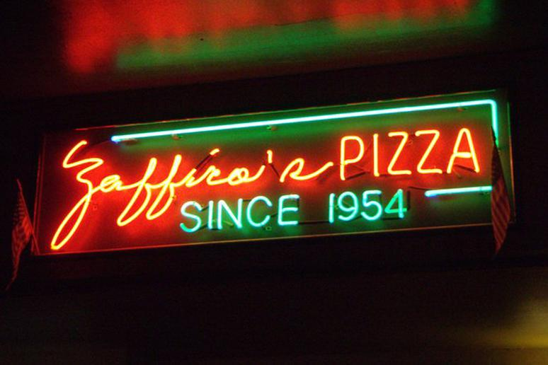 """#91 Zaffiro's Pizza, Milwaukee, Wis. (EBF """"Everything But Fish"""": Cheese, sausage, mushrooms, pepperoni, onions, green pepper, black olives)"""