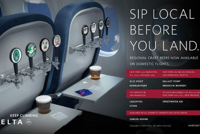 You Can Now Get (Sometimes) Free Craft Beer on Delta Flights