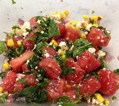 Watermelon Salad with Mint and Queso Fresco