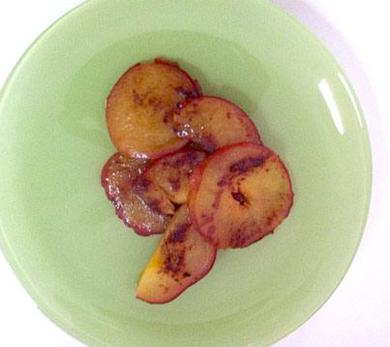 Broiled Pluots with Brown Sugar