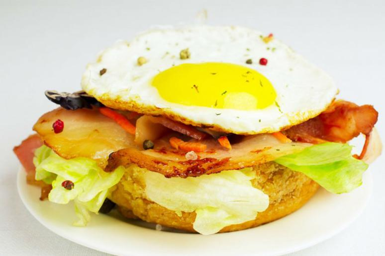 Grilled Wedge Salad With Fried Egg and Feta
