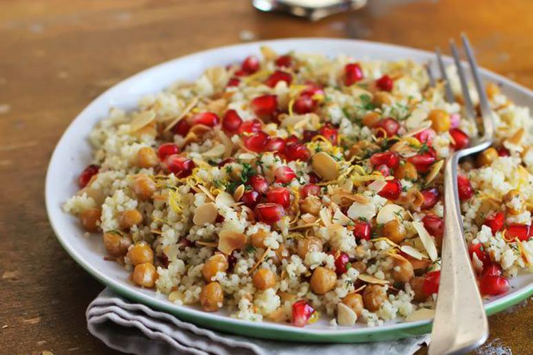 Israeli Couscous with Chicken Sausage and Roasted Peppers Recipe