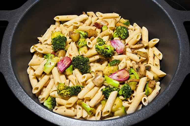 Don't give up pasta, just add more vegetables
