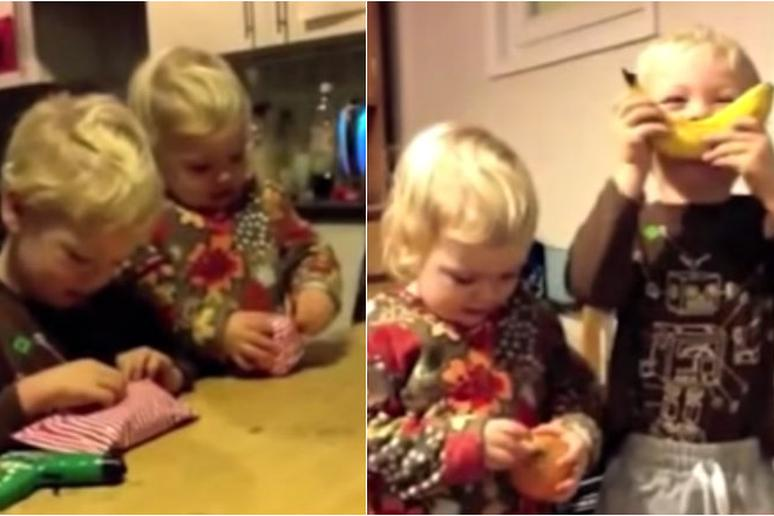 Watch: Dad Gives His Kids an Onion and a Banana for Christmas and They Lose Their Minds