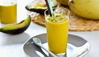 Use your slightly over-the-hill avocados for delicious fruit smoothies, like this mango and avocado smoothie.