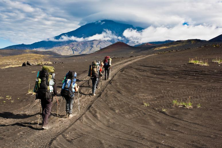 Hike an active volcano