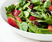 This strawberry spinach salad should be washed thoroughly before consumption