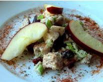 Closeup of Chicken Salad  with Apples and Cranberries
