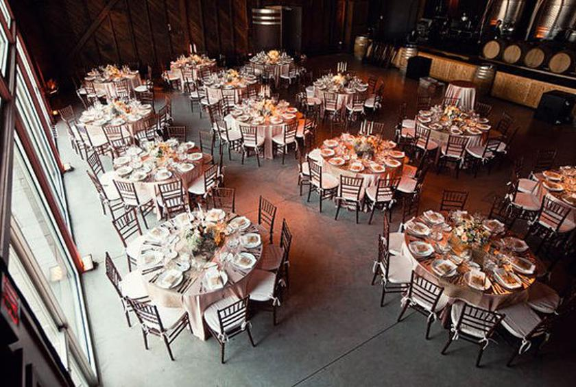 Wedding Reception Seating: The Long and the Round of It