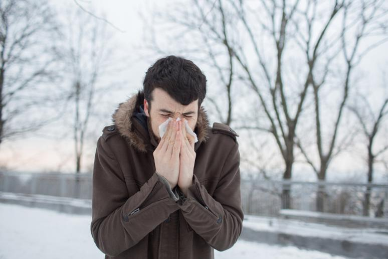 Allergies disappear in the winter