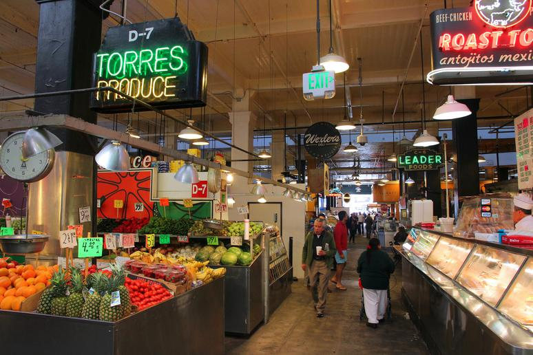 Get groceries at Grand Central Market