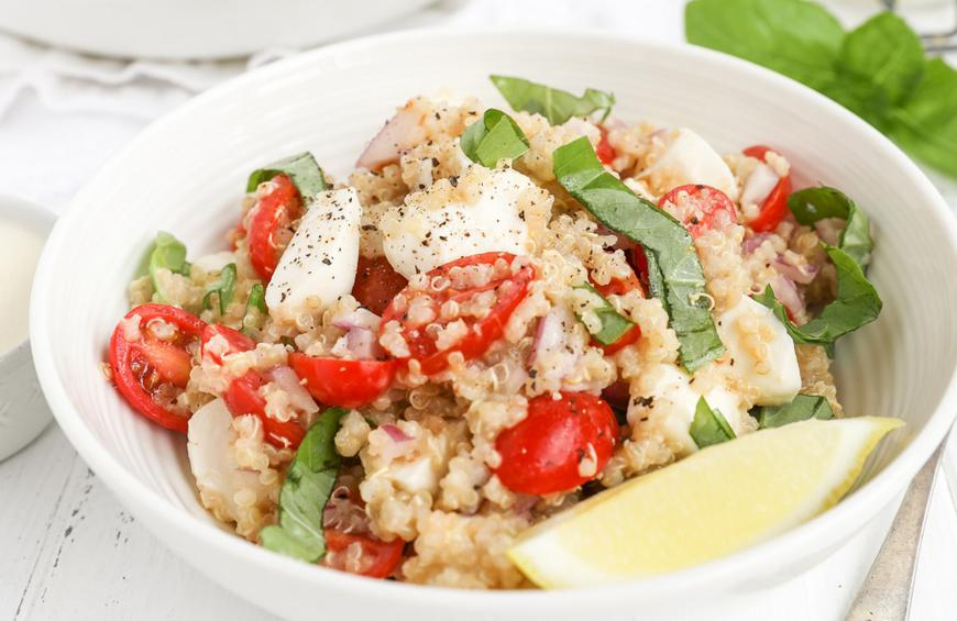 Summer Quinoa Salad With Creamy Lemon Dressing Recipe By Madeline Buiano
