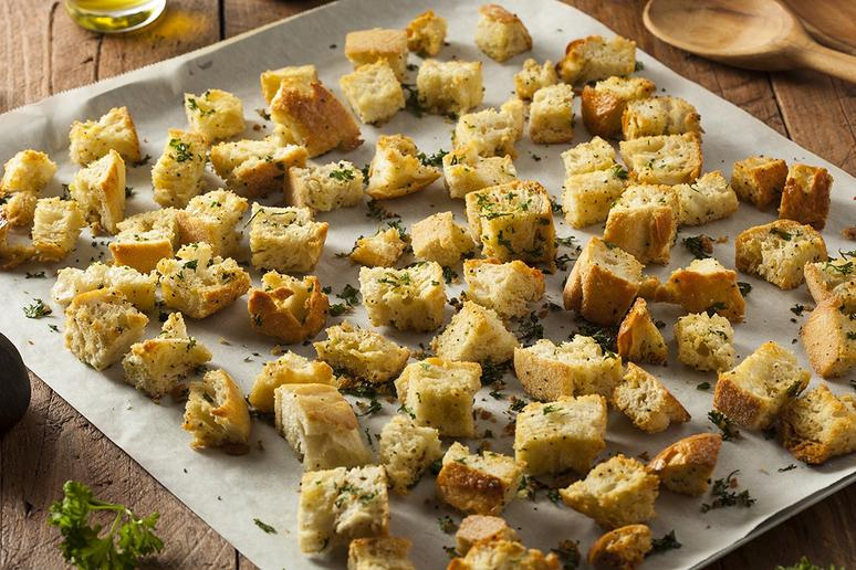 Turn Stale Bread Into Croutons