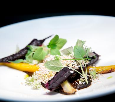 Wood-roasted heirloom carrots were accompanied with a complex and flavorful burnt bread mole.