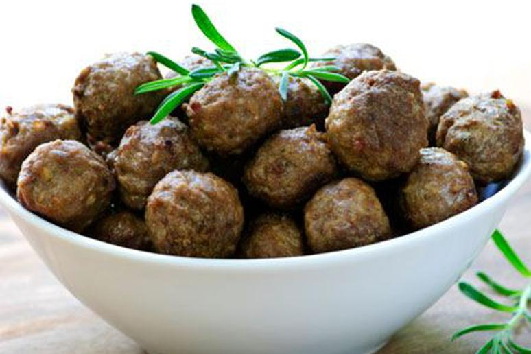 Moroccan Meatballs with Spicy Eggplant and Tomato Sauce Recipe by Diane Phillips