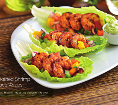 healthy shrimp wraps