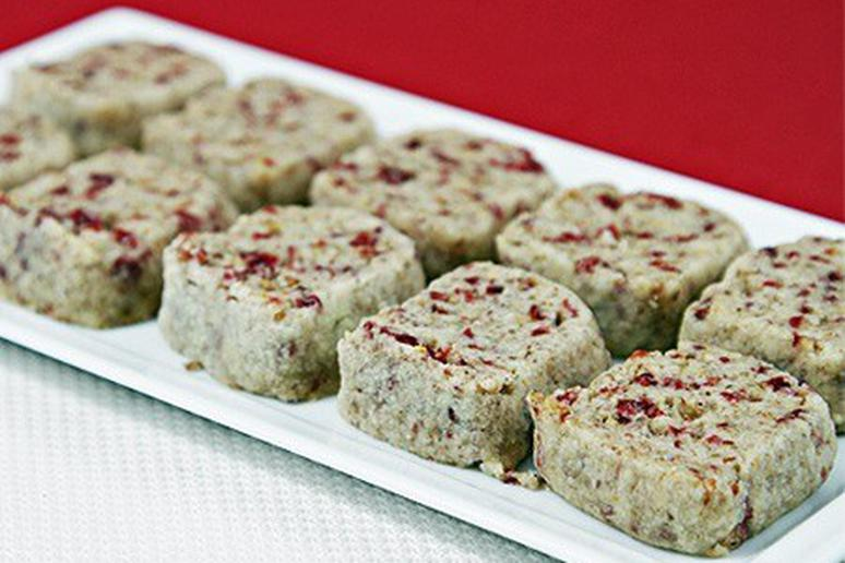 Butter Cookies with Dried Cranberries and Roasted Pecans