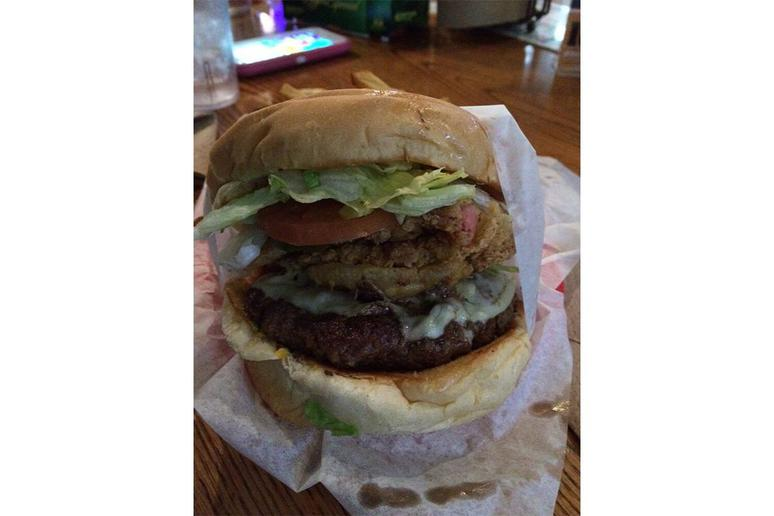 #80 Country Fried Bacon Burger, Christian's Tailgate, Houston