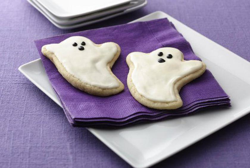Ghost Sugar Cookie Cutouts for Halloween