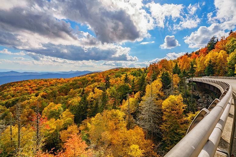 North Carolina – Anywhere along the 469-mile Blue Ridge Parkway
