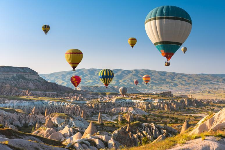 Ride a hot air balloon in Cappadocia