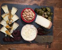 Our finished cheese board