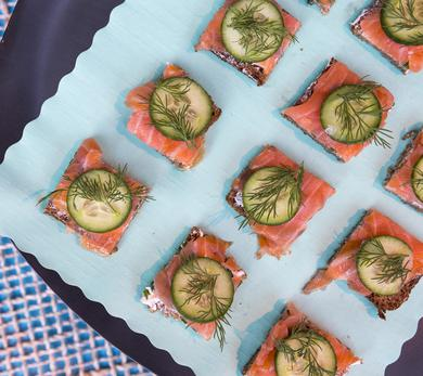 Smoked Salmon with Cream Cheese by Blue Circle Foods