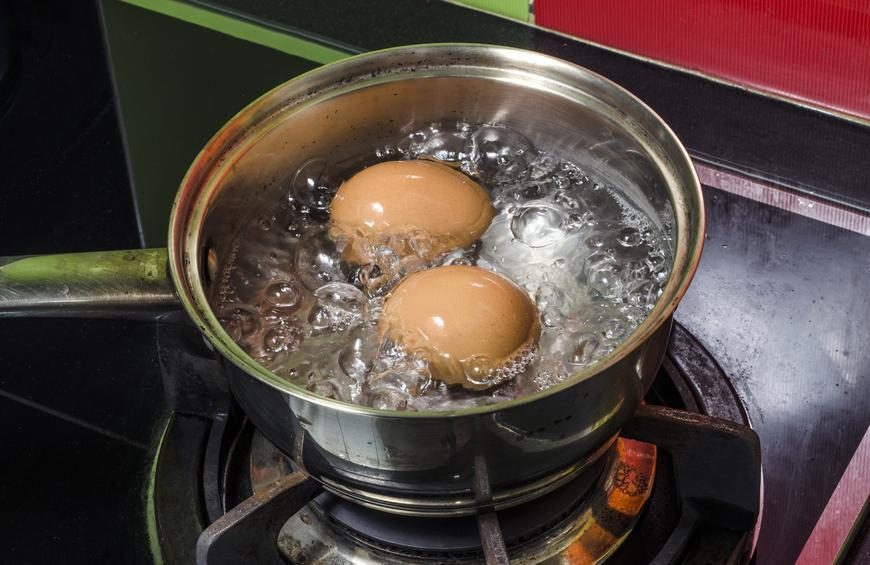 You hard-boil fresh eggs