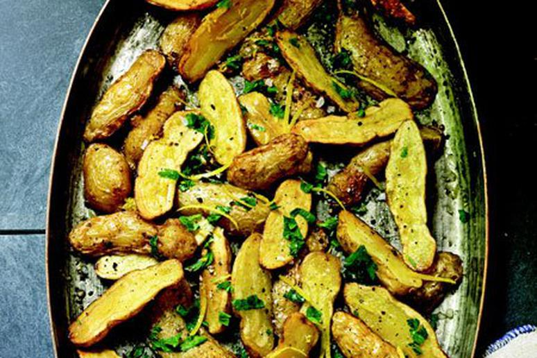 Duck Fat Potatoes with Parsley and Lemon