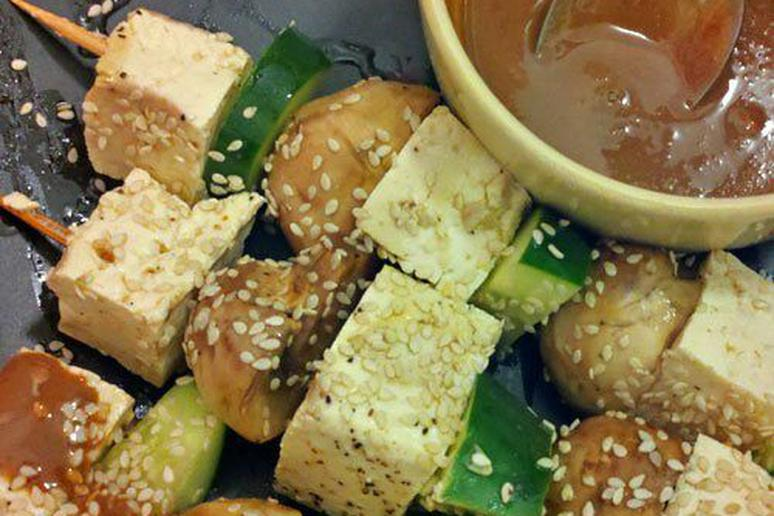 Marinated Tofu Skewers
