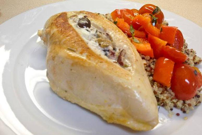 Goat Cheese- and Olive-Stuffed Chicken Breast Recipe