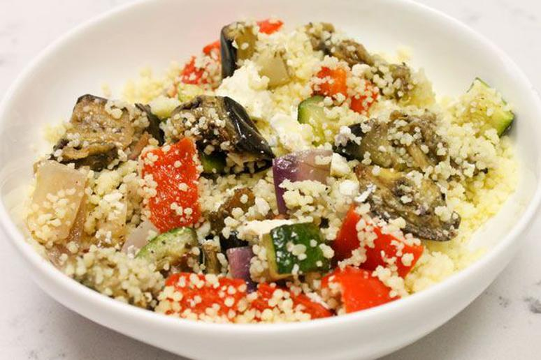 Couscous with Roasted Vegetables and Feta