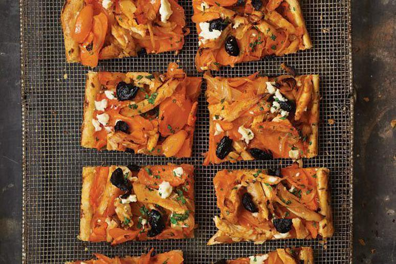 Moroccan Carrot and Roast Chicken Tart Recipe