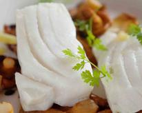 Lemongrass-Poached Alaska Halibut
