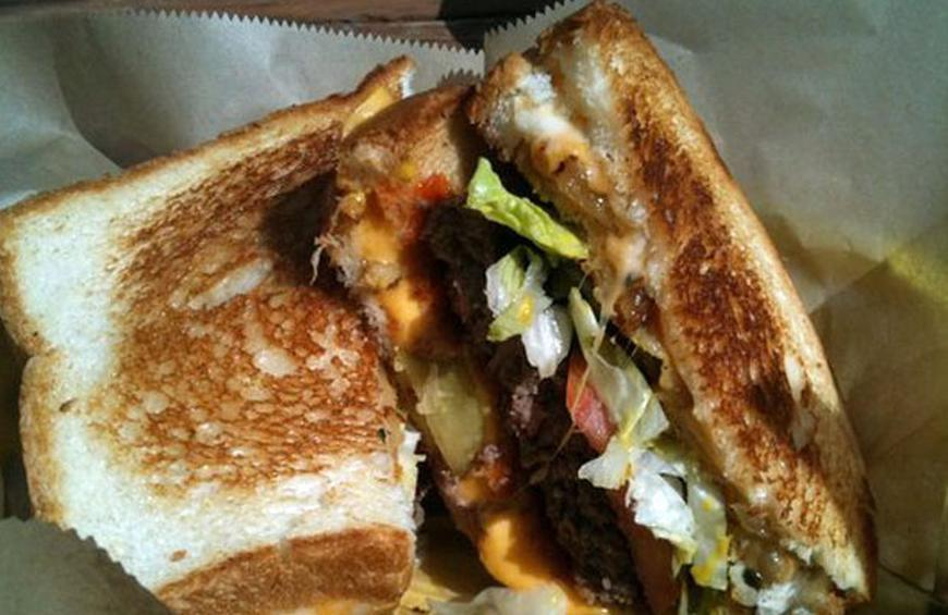 Inside-Out Grilled Cheese — Edzo's Burger Shop, Evanston