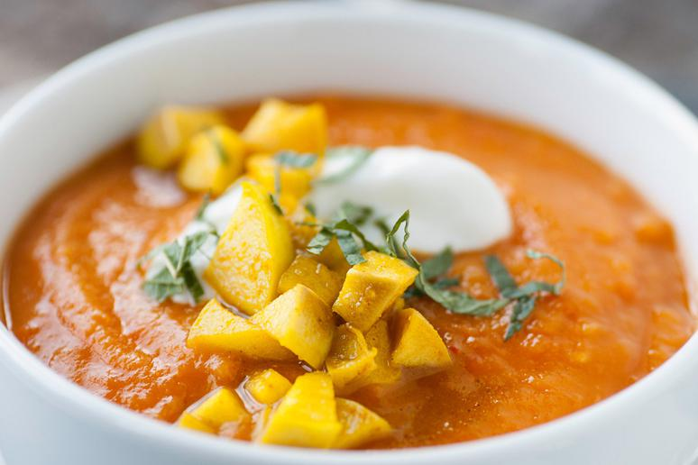 West Virginia: Roasted Butternut Squash and Apple Soup