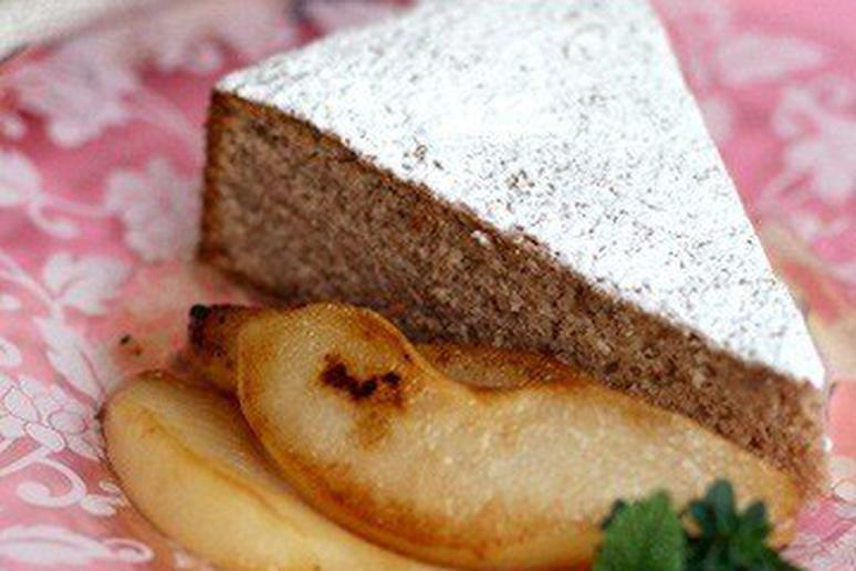 Chestnut Cake with Pan-Roasted Pears