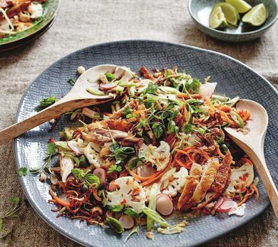 Coconut, Lime, and Lemongrass Chicken Salad