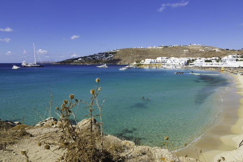 Hit the beach in Mykonos