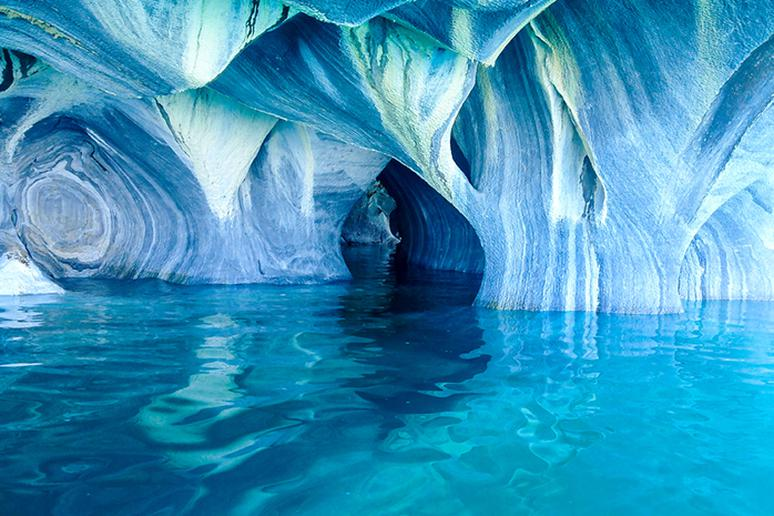 Sail underground in the Marble Caves, Argentina