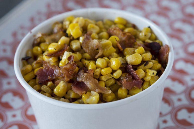 Griddled Corn and Bacon