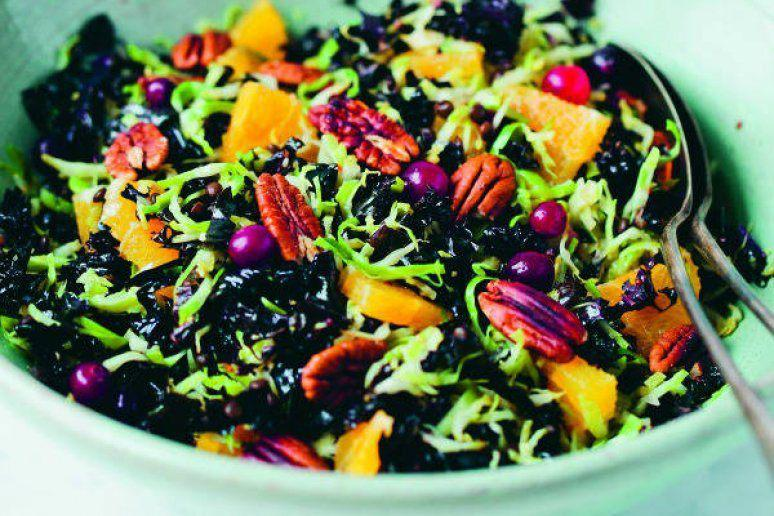 Brussels Sprout and Cranberry Holiday Salad