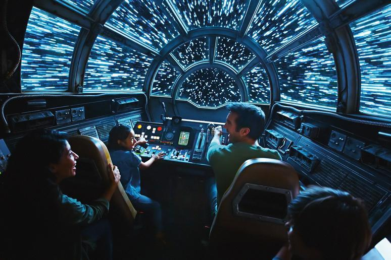 Or pilot the 'fastest hunk of junk in the galaxy' on Millennium Falcon: Smugglers Run