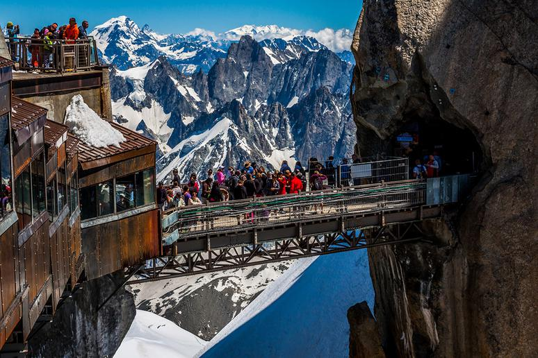 Aiguille du Midi Bridge, French Alps