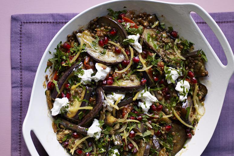 Eggplant Casserole With Pomegranate