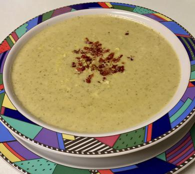 Rich, Creamy Broccoli and Blue Cheese Soup