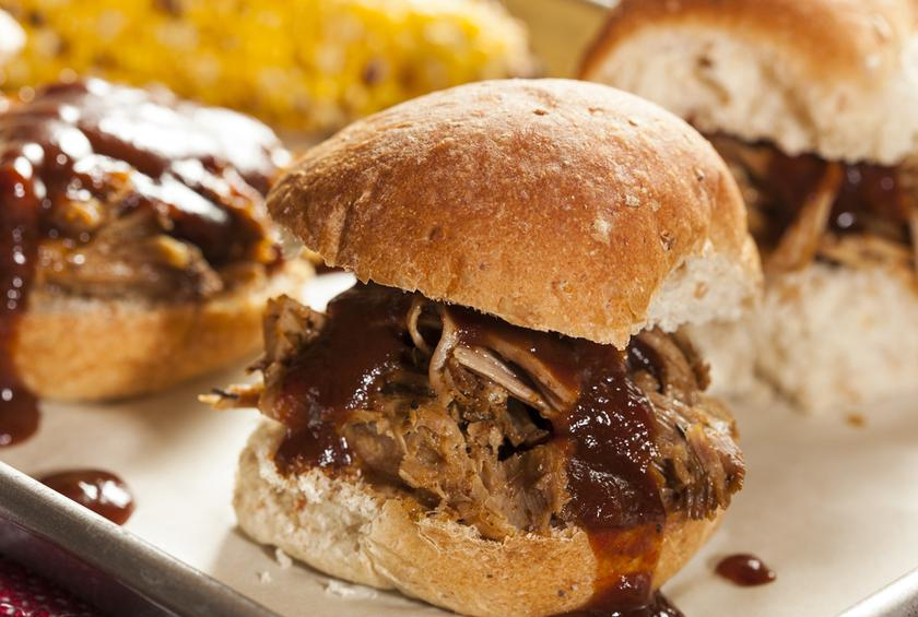 Pulled Pork Sliders With Spicy BBQ Sauce and Pickled Pineapple